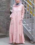 Ruffled Hem Maxi in Pink