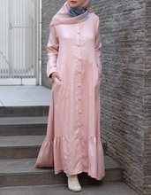 Load image into Gallery viewer, Ruffled Hem Maxi Dress in Pink