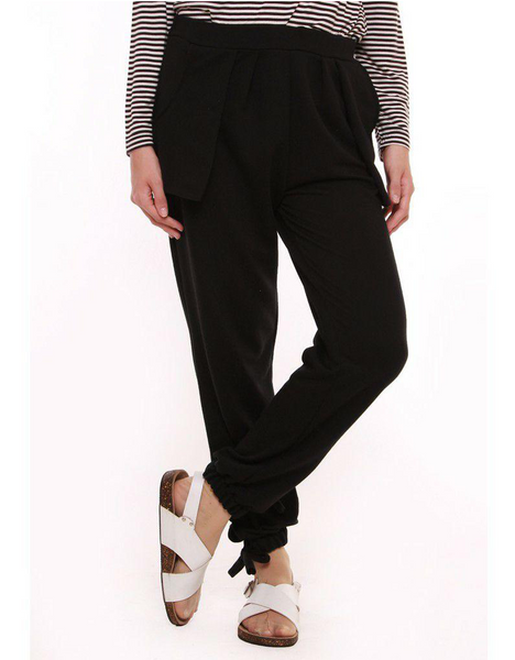 Pocket Pouch Jogger Pants in Black