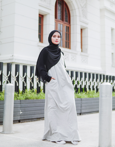 Raglan Maxi in Black/White