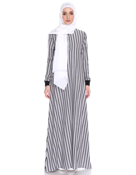Varsity Striped Maxi in Grey
