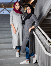 Load image into Gallery viewer, Side Slit Tunic in Dark Grey