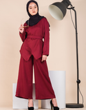 MERIDA Pants Suit in Maroon
