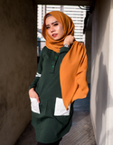 Pre-Order: Varsity Dip Hem Tee in Hunter Green