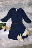 Back to Basics Dress, Navy