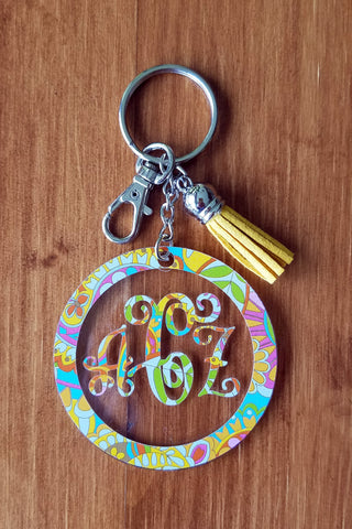 Keychain - Pattern on Clear Acrylic