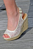 The Jenna Wedge, Light Taupe