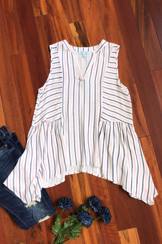 Sea Shore Striped Top