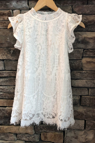 Simply Chic Lace Top, Off White
