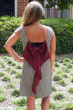 Show Your Spirit Hounds-tooth Dress with Crimson Bow