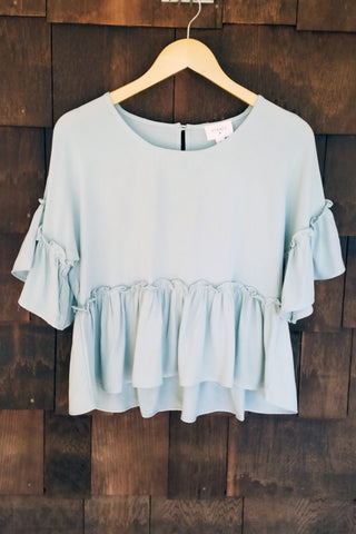 Falling for You Top, Mint