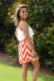 All Out Blitz Dress in Orange and White