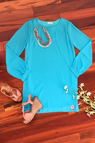 Instant Classic Dress, Turquoise