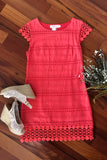 Classic Perfection Dress, Coral