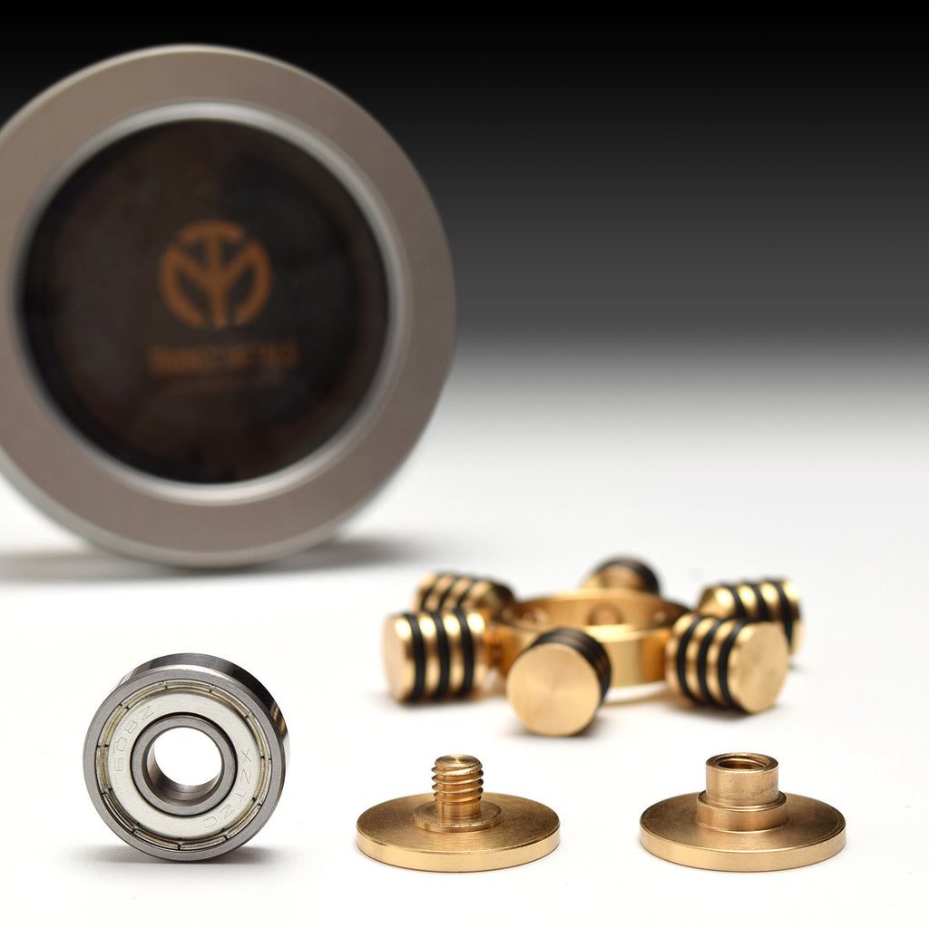 Trance Spinner: Solid Brass + Grip Rings