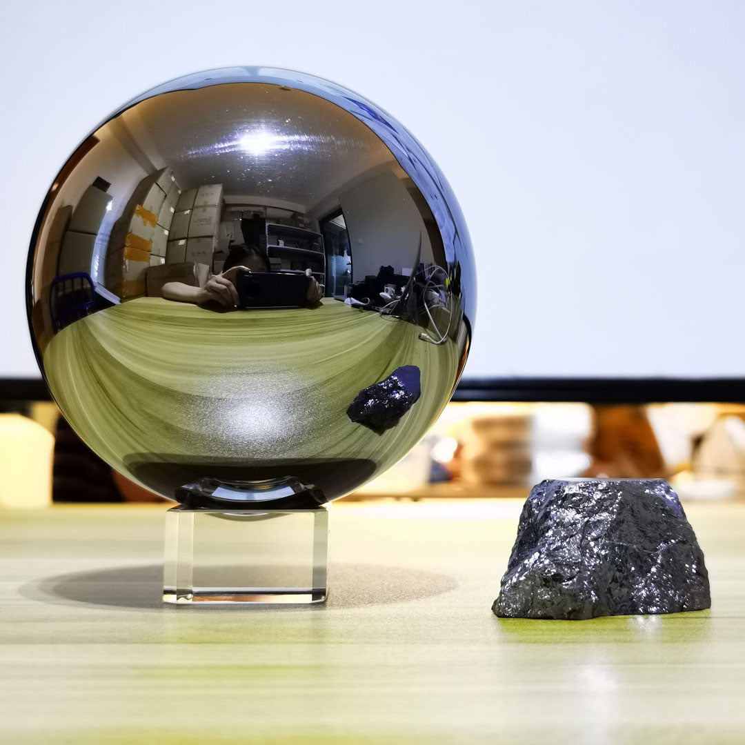 One Kilogram Silicon Sphere - Mirror Polished (Last Ones!) - Trance Metals