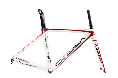 Orbea Orca Silver Carbon Road Frameset // Di2 Only Racing Aero Bicycle-Road Frames-Orbea-48cm-The Racery