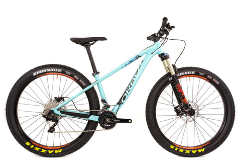 Small Orbea Loki 27+ H10 Hardtail Mountain Bike // Shimano SLX Fox Float Selle