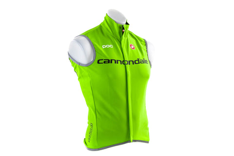 Castelli Men's Cannondale Perfetto Cycling Wind Vest // Road Bike Bicycle-Men's Cycling Apparel > Vests-Castelli-Small-The Racery