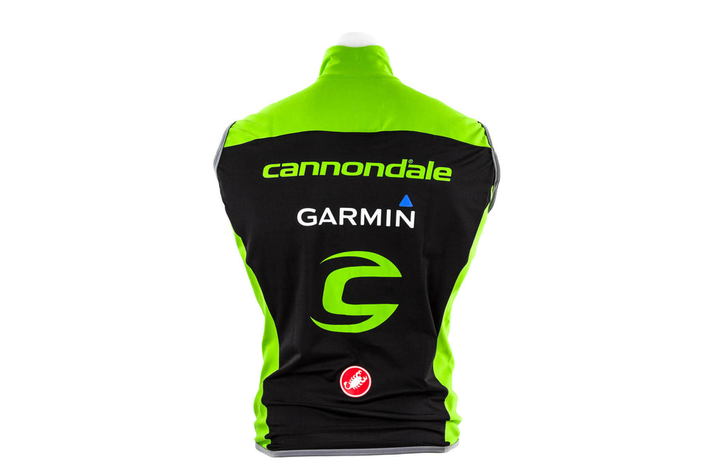 Large Castelli Cannondale Garmin Fawesome 2 Wind Vest / Road Mountain Bike Bicyc-Men's Cycling Apparel > Vests-Castelli-Default-The Racery