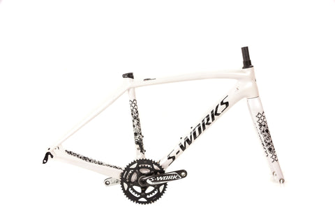 51cm S-Works Amira SL4 Frameset with Crankset // Lululemon Team - White-Road Frames-Specialized-Default-The Racery