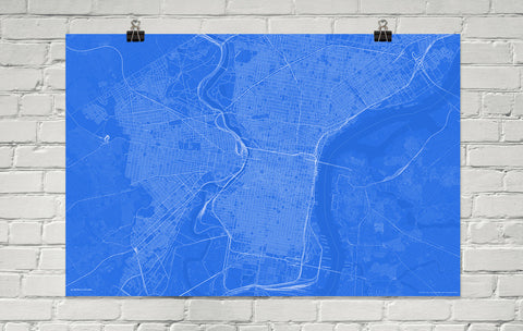 Philadelphia Blueprint Map Poster