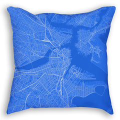 Boston Blueprint map pillow mockup
