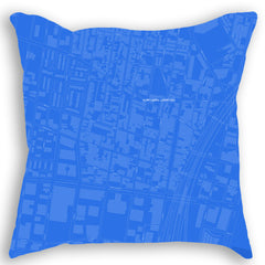 City Blueprint Map Pillows
