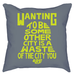 City You Are Illustrated Pillow