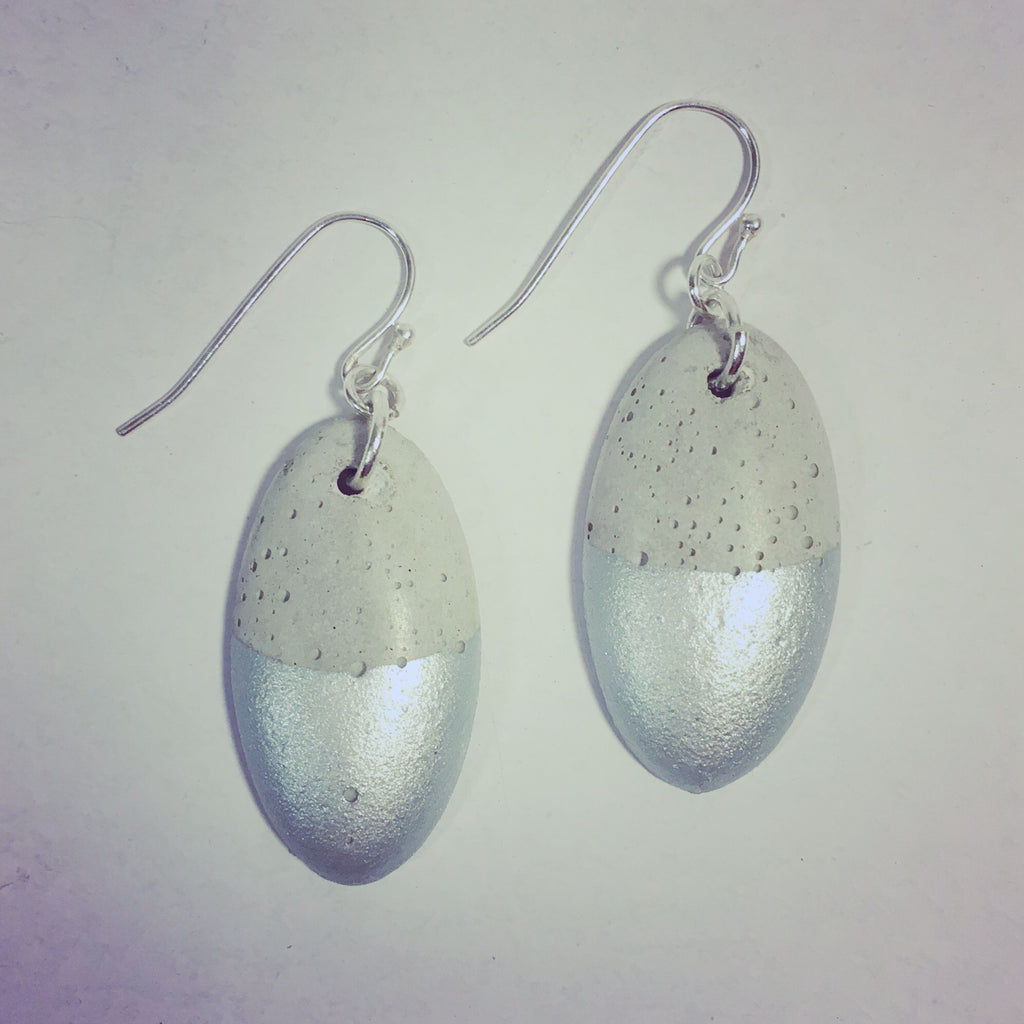 Silver Surfers - Concrete Earrings