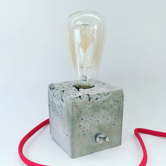 Resistance is Futile Concrete Cube Lamp