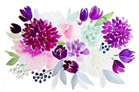 Purple Spring Bouquet - New!