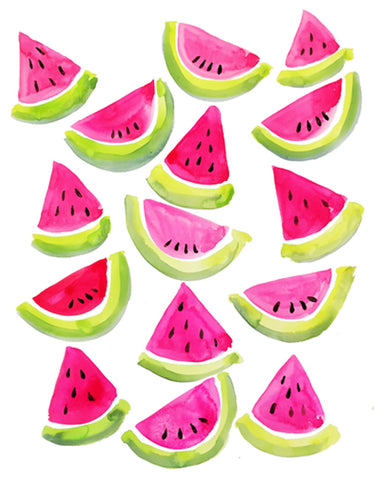 Watermelon Pattern-Watercolor Print