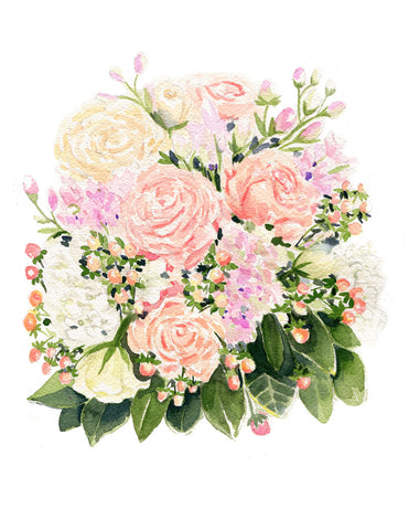 Ivory and Blush Bouquet -NEW!