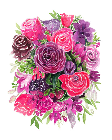 Plum and Pinks Bouquet -NEW!