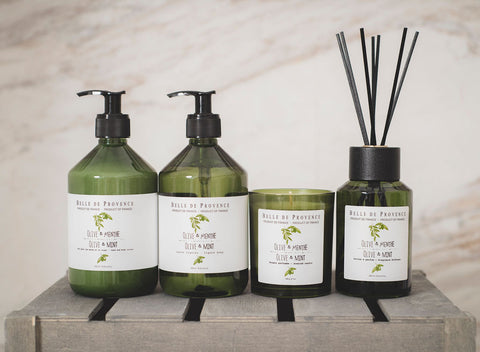 The Belle de Provence Olive Oil Collection is infused with olive extract from Provence
