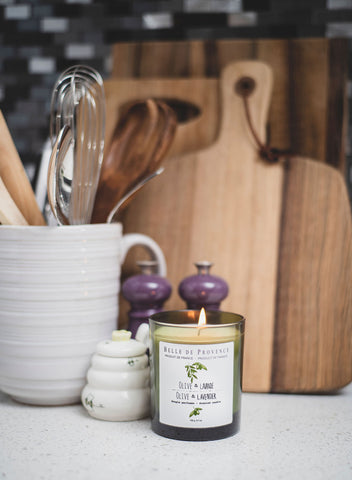 Choose a candle fragrance that reminds you of spring & nature