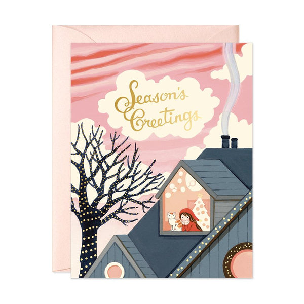 Seasons Greetings Holiday Card - Belle De Provence