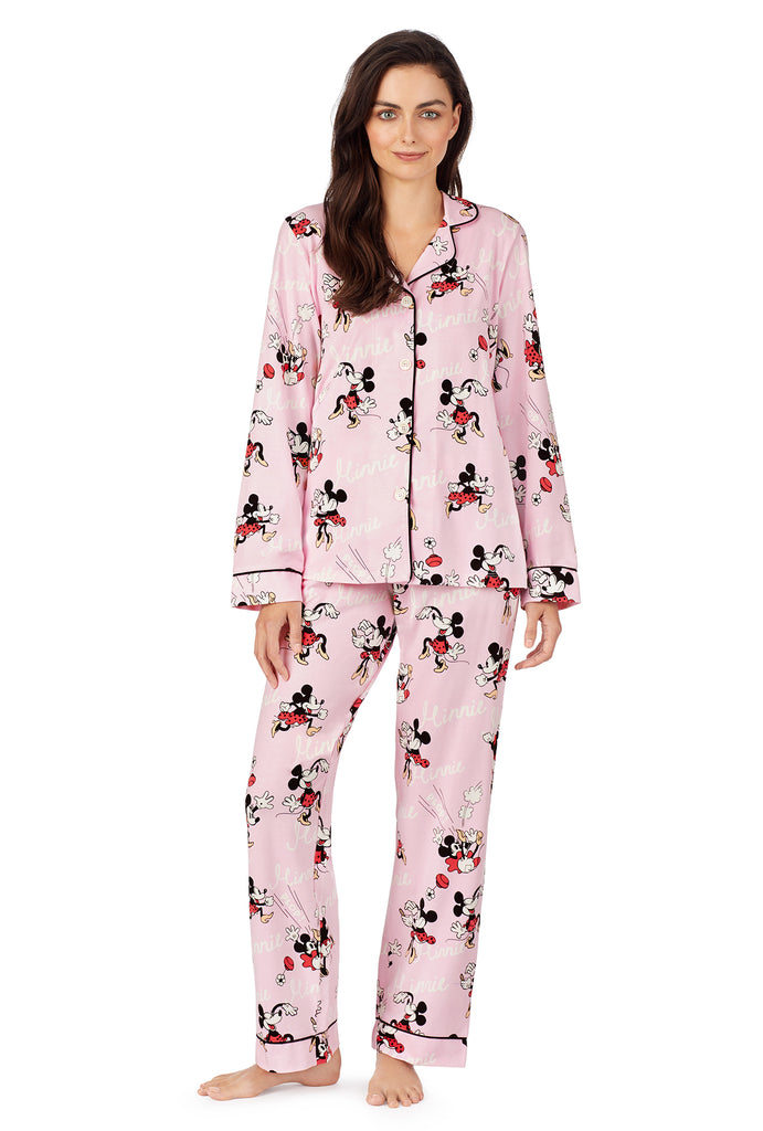 BedHead  Disney Vintage Minnie Stretch Long Sleeve Classic PJ Set