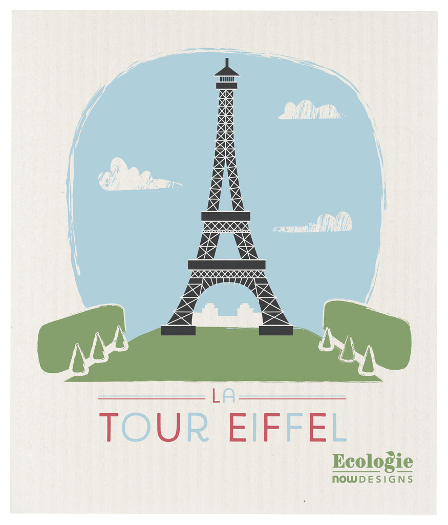 Swedish Dishcloth La Tour Eiffel