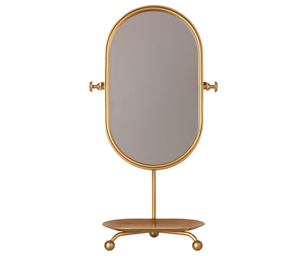Gold Table Mirror