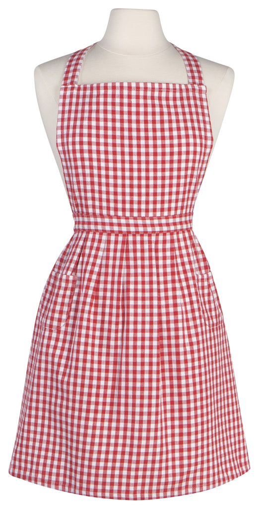 Red Gingham Apron - Belle De Provence