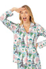 On Top of the World Long Sleeve Classic Stretch Jersey PJ Set - Belle De Provence