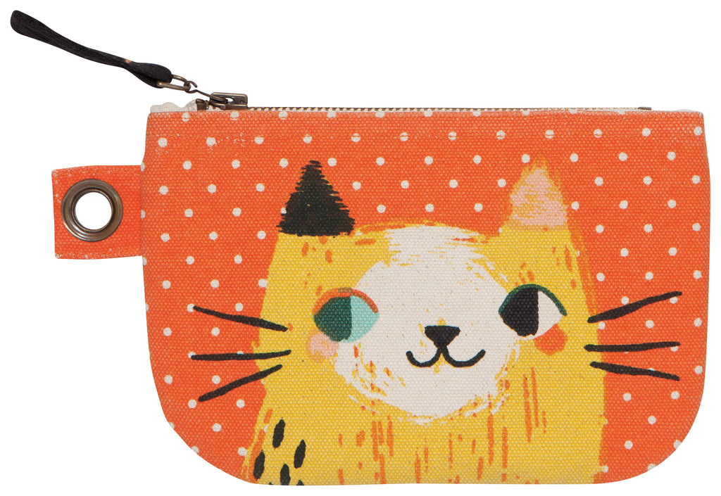 Small Cat Zip Pouch - Belle De Provence