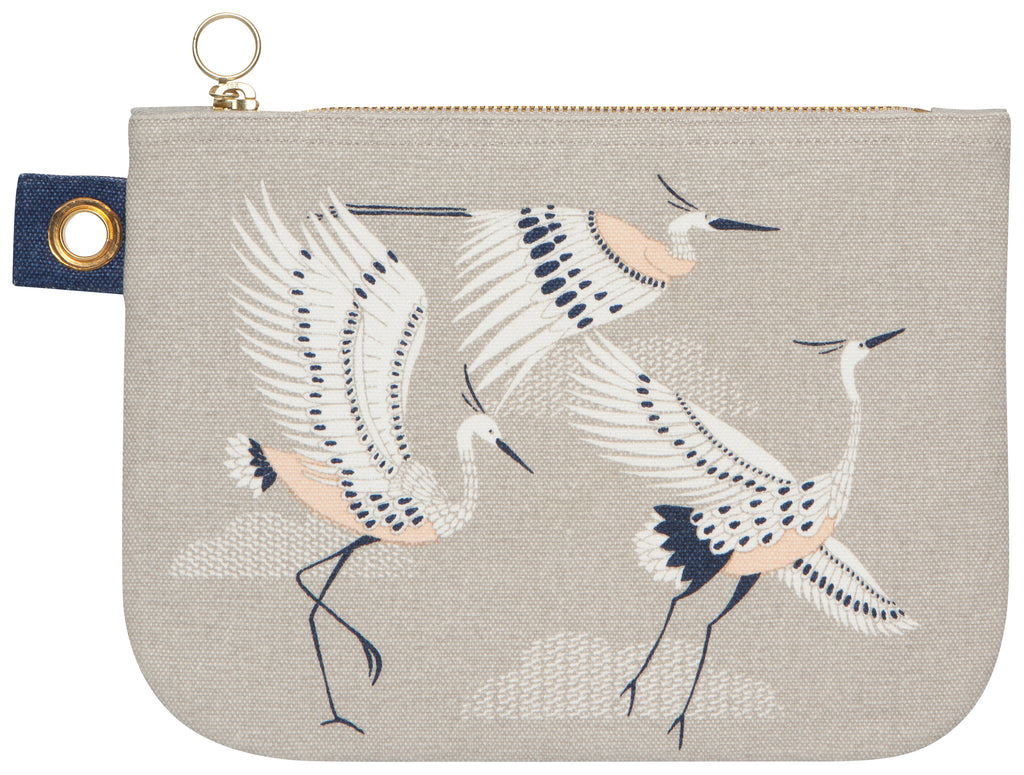 Flight Fancy Large Zip Pouch - Belle De Provence