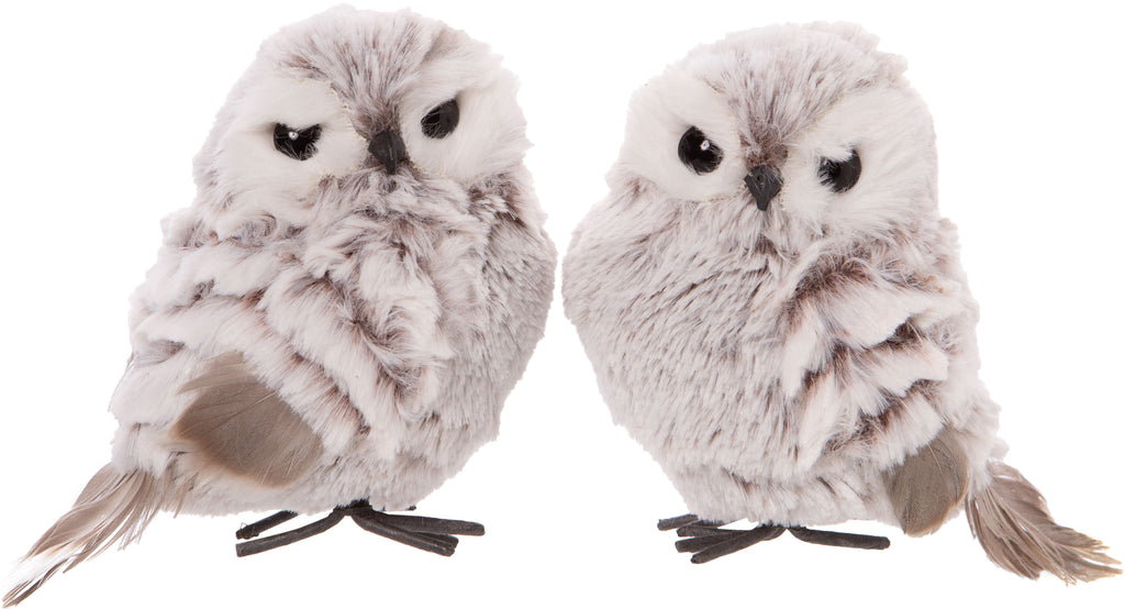 Fluffy Owl Ornament - Belle De Provence