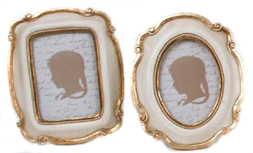 Cream Gold Antique Picture Frames - Belle De Provence