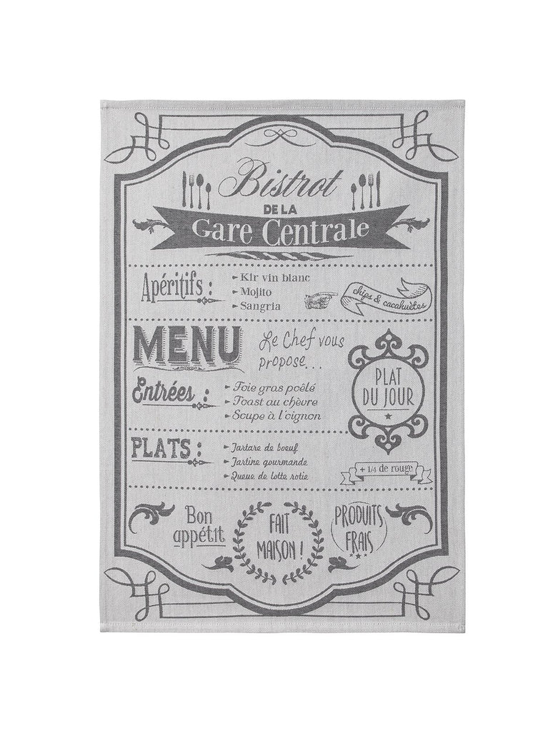 Au Menu Tea Towel - Belle De Provence