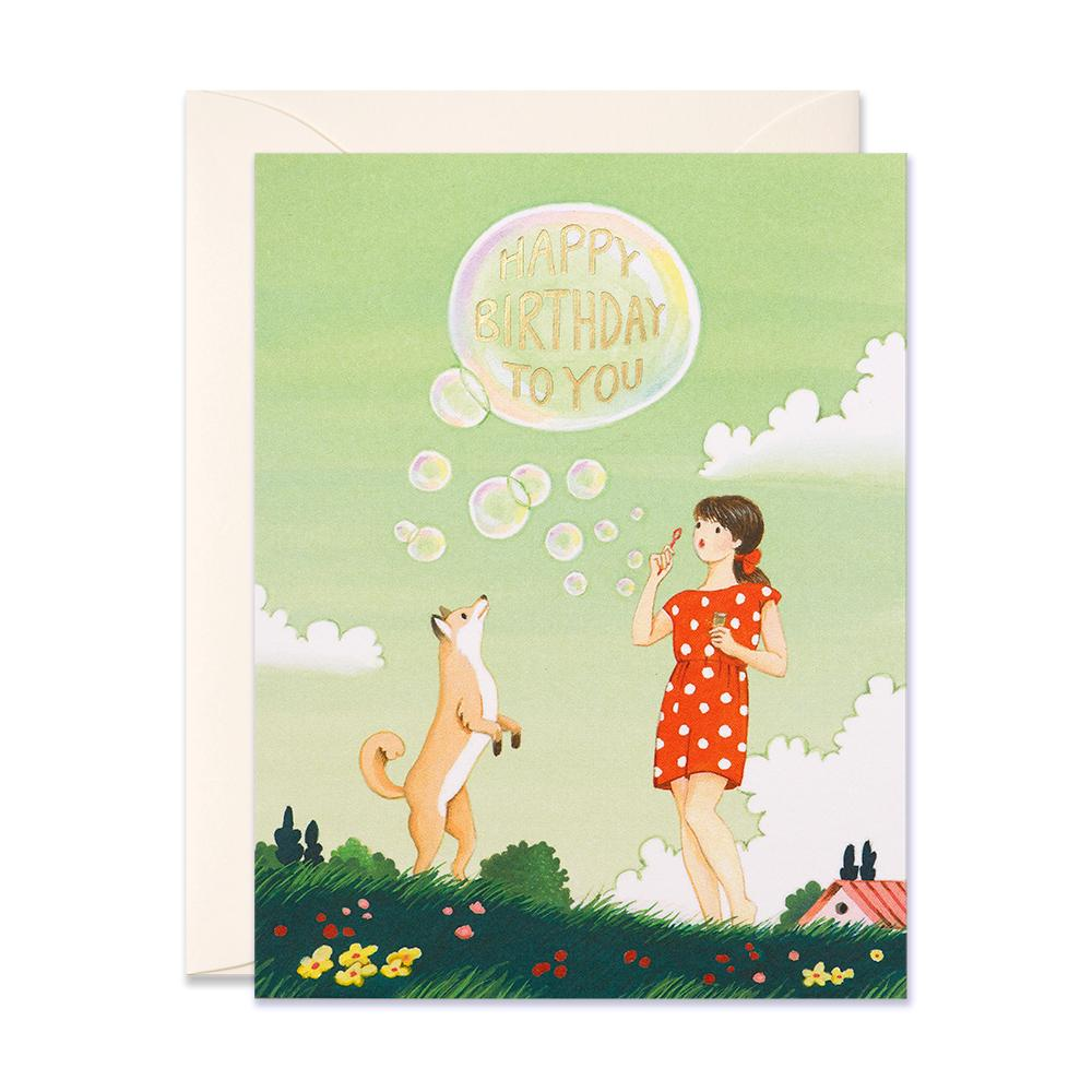 Bubbles Birthday Card - Belle De Provence