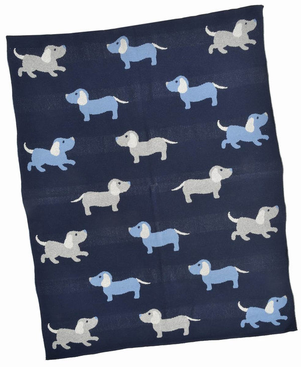 Blue Dogs Baby Blanket